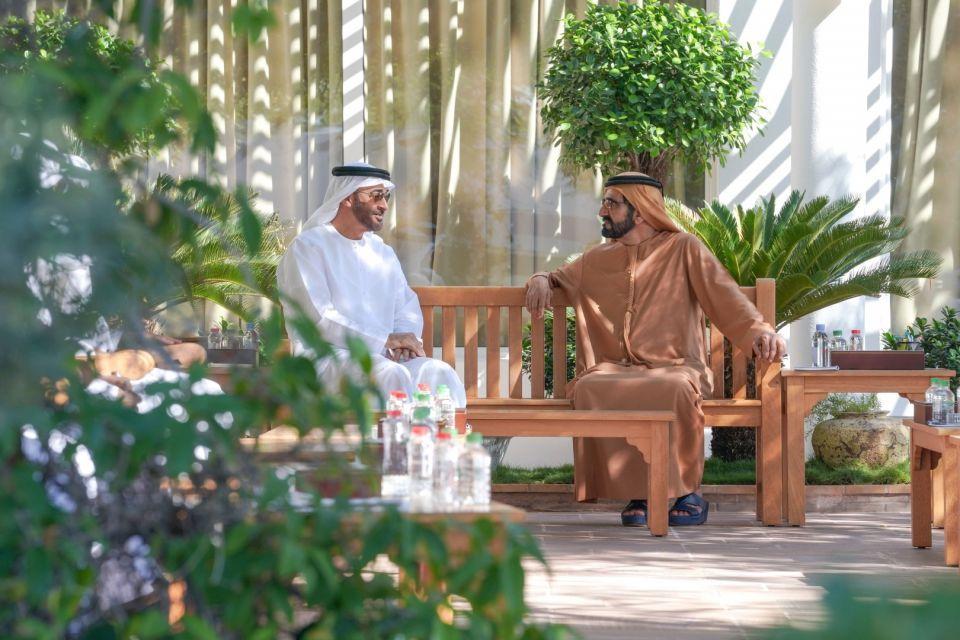 محمد بن راشد و محمد بن زايد يتبادلان التهاني بمناسبة العام الميلادي الجديد