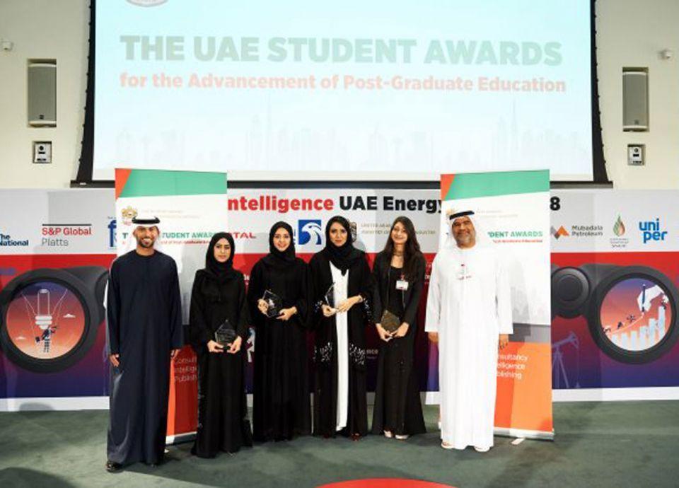 4 باحثات تكتسحن الصدارة بجائزة الإمارات للدراسات العليا بمجال الطاقة