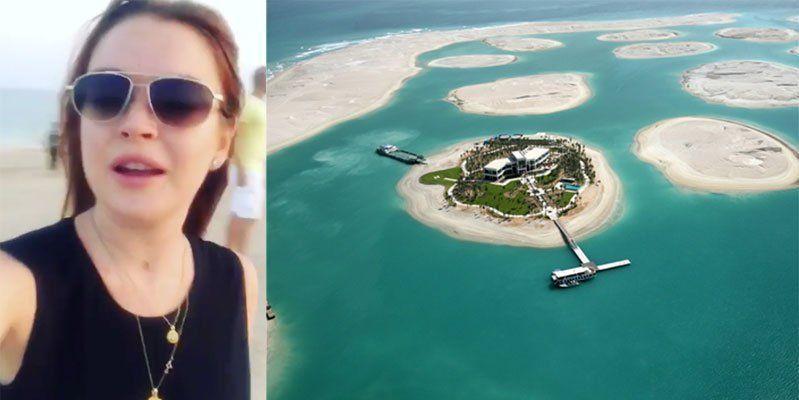 تصميم جزيرة في دبي من قبل ليندسي لوهان