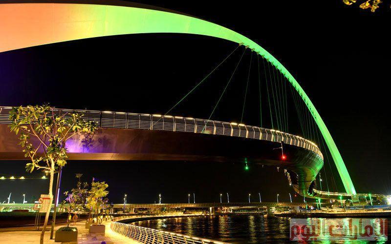 صور جسر التسامح  رمز التعايش والحوار بين مختلف الثقافات والجنسيات في الإمارات