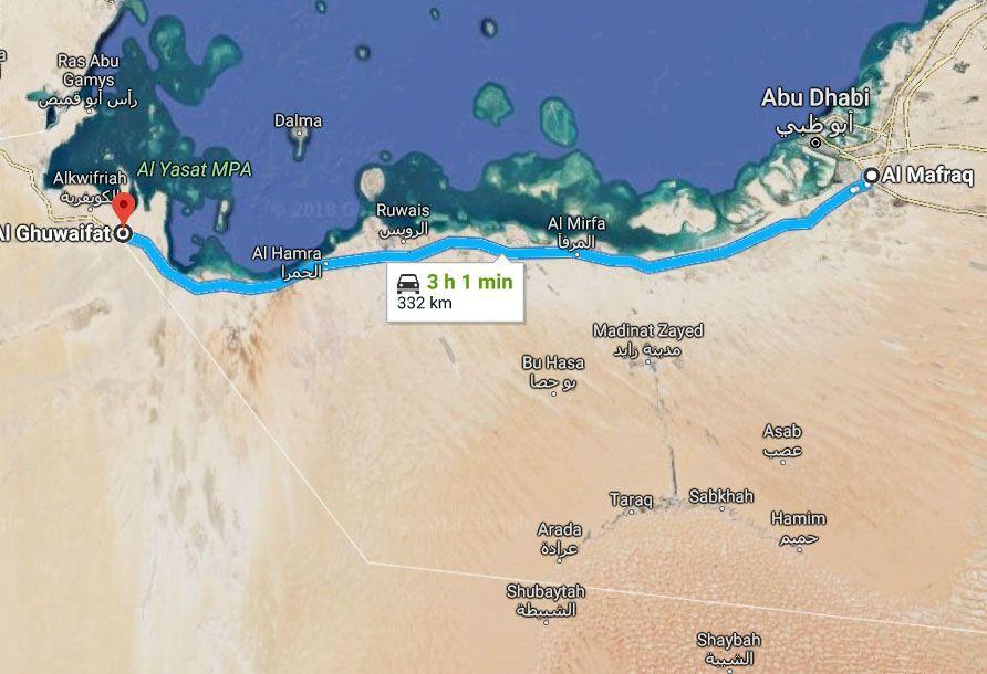 160 كم بالساعة سرعة السيارات الخفيفة على طريق  الشيخ خليفة بن زايد