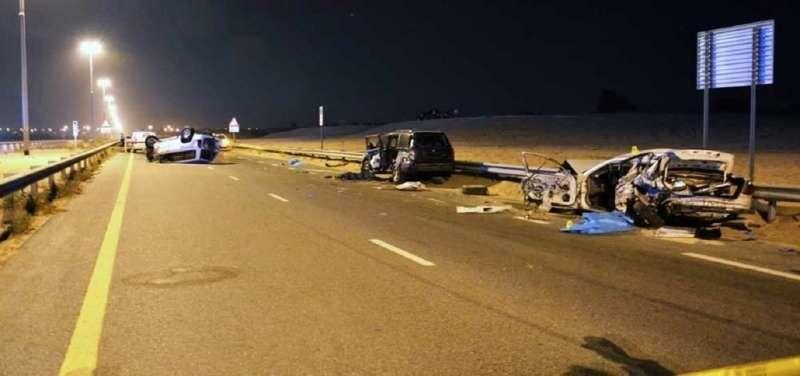 65 وفاة و250 إصابة جراء السرعة الزائدة في الإمارات عام 2017