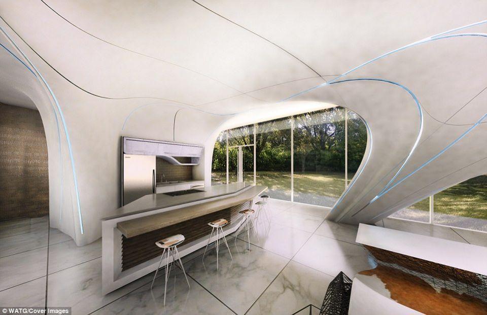 شاهد أول منزل بالشكل الحر ويبنى بالطباعة ثلاثية الأبعاد