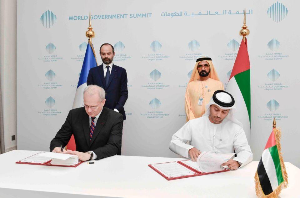 توقيع إعلان مبادىء بين وكالة الإمارات للفضاء والمركز الفرنسي للدراسات الفضائية