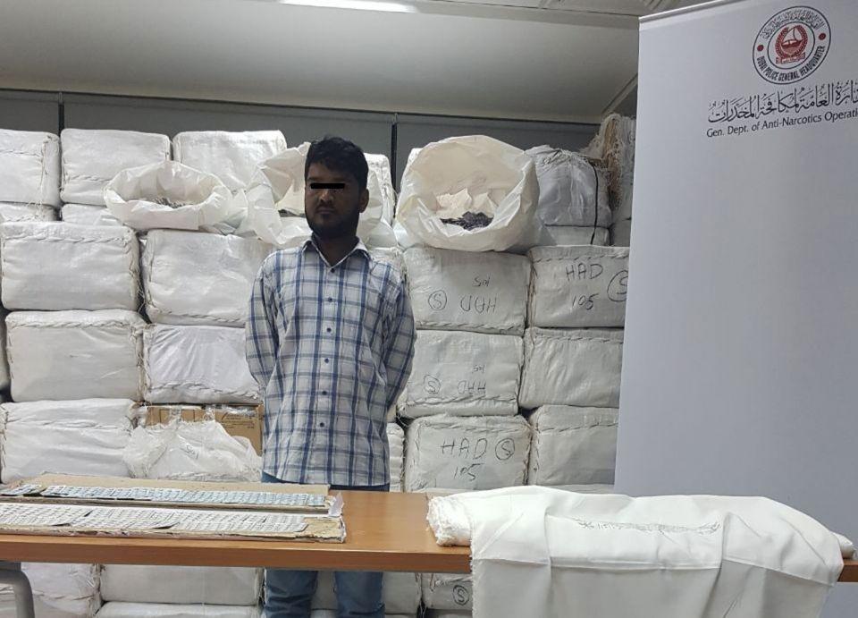 شرطة دبي تضبط 303 كغ من المخدرات عبر الأقمشة
