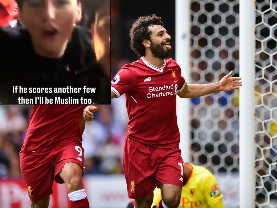 أغنية لمشجعي ليفربول: لأجل محمد صلاح سأصبح مسلما