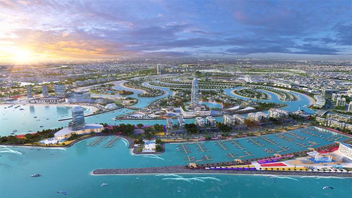 تدشين أعمال المرحلة الأولى لمشروع مدينة الشارقة للواجهات المائية