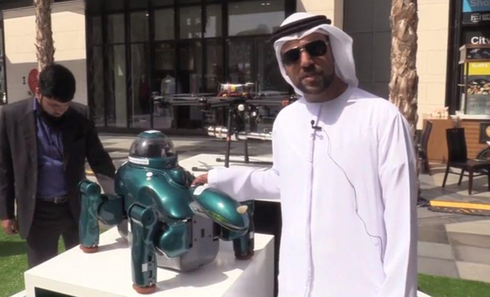 كلب آلي ذكي لحماية المنازل في دبي