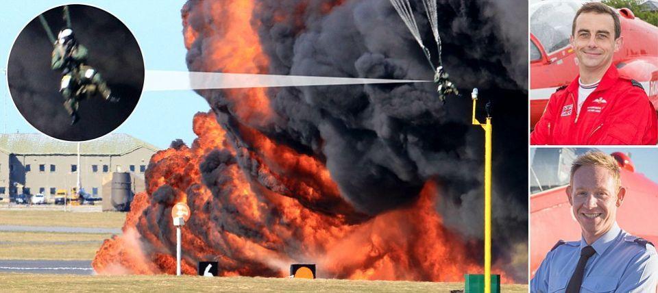 تحطم طائرة لفرقة ريد أروز الاستعراضية في بريطانيا