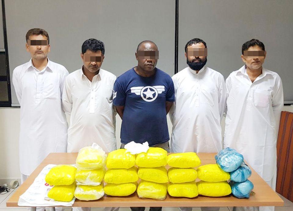 شرطة دبي  تضبط 20 كغ هيروين مع عصابة دولية لتهريب المخدرات