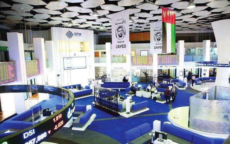 الأسهم الإماراتية تعود لـ الأخضر  وتربح 2.8 مليار درهم مع نهاية الأسبوع