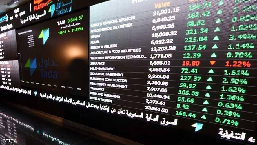 البورصة السعودية تتراجع لليوم الثاني وقطاع العقارات يهبط بسوق دبي