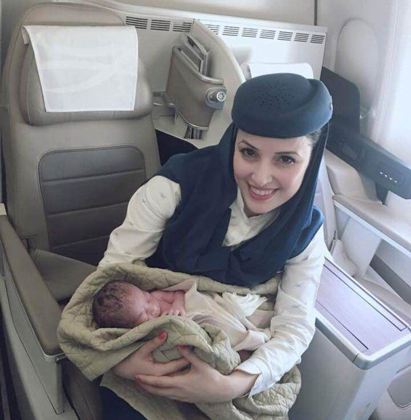 مولود جديد على متن الخطوط السعودية، فهل سيحصل على تذاكر مدى الحياة؟
