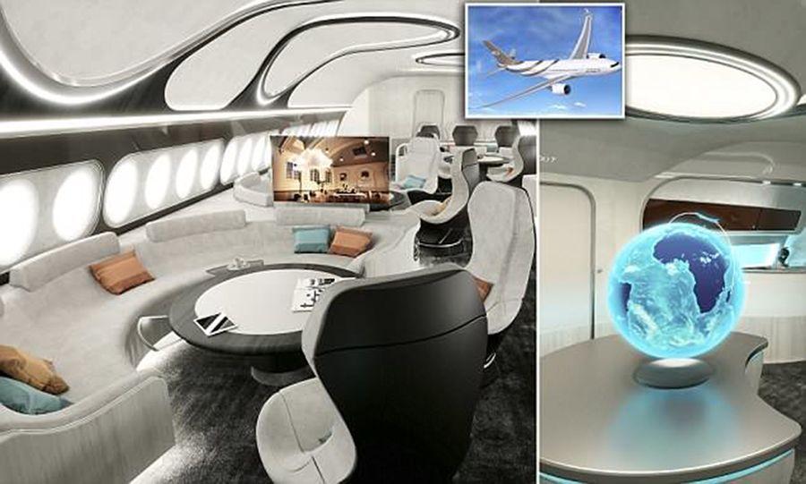 بالصور : المقصورة الخاصة المذهلة من إيرباص لدرجة الـ VIP