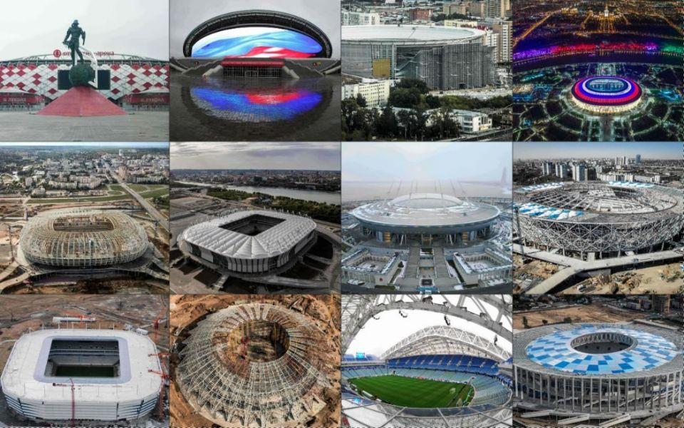 شاهد مواقع ملاعب كأس العالم في روسيا