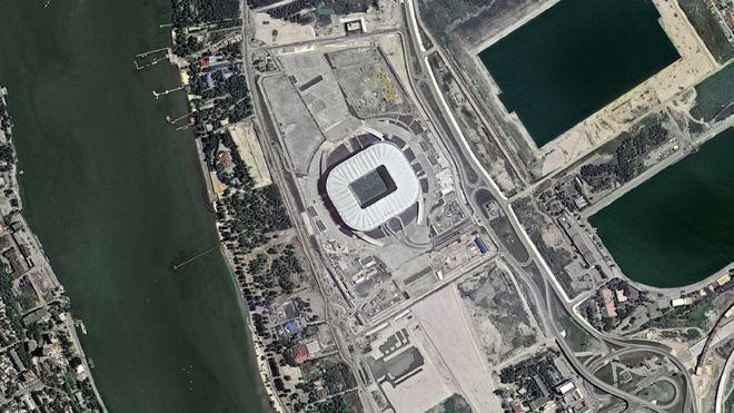 بالصور: كيف تبدو ملاعب كأس العالم في روسيا من الفضاء؟