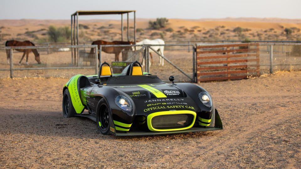 بالصور: سيارة رياضية مصنوعة في الإمارات تشارك في سباق دولي