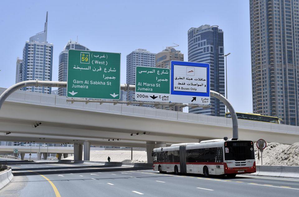 إطلاق مسار جديد مخصص للحافلات في دبي