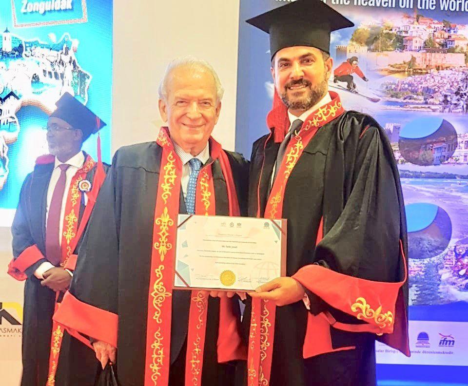 اتحاد الجامعات الدولي يمنح الدكتوراة لرجل الأعمال فادي جواد