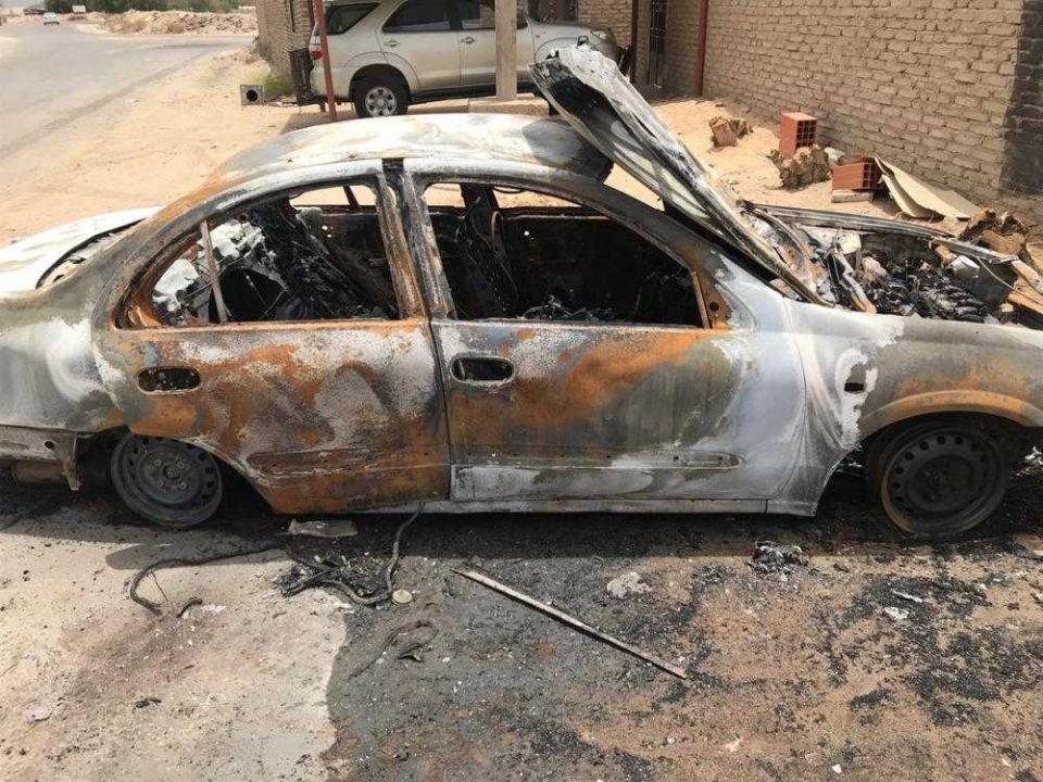 تعويض امرأة سعودية أحرقت سيارتها