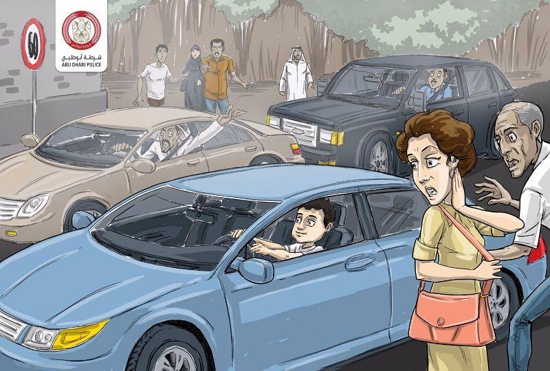 شرطة أبوظبي تضبط 342 حدثأً لقيادة مركبات بدون رخصة