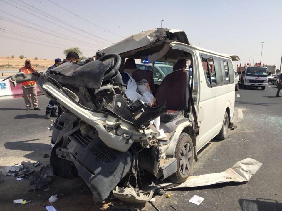 وفاة 3 وإصابة 11 شخصاً في حادث بليغ على شارع الإمارات