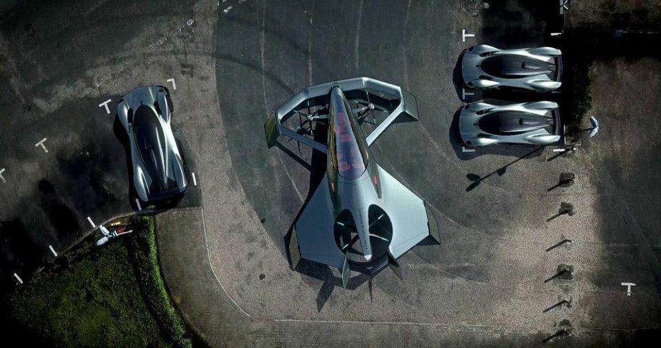 """بالصور: """"أستون مارتن"""" تستعرض رؤيتها عن التاكسي الطائر"""