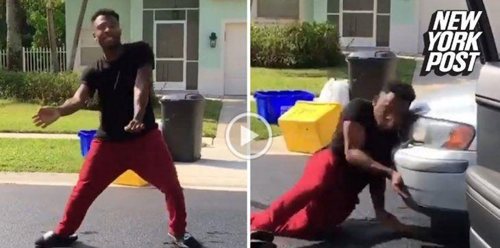 بالفيديو.. خرج من سيارته ليرقص كيكي فوقع ضحية حادث دهس