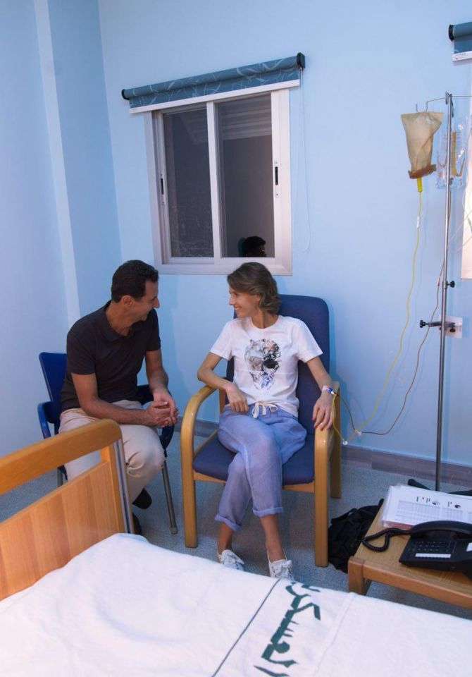 أسماء الأسد تبدأ رحلة العلاج من سرطان الثدي
