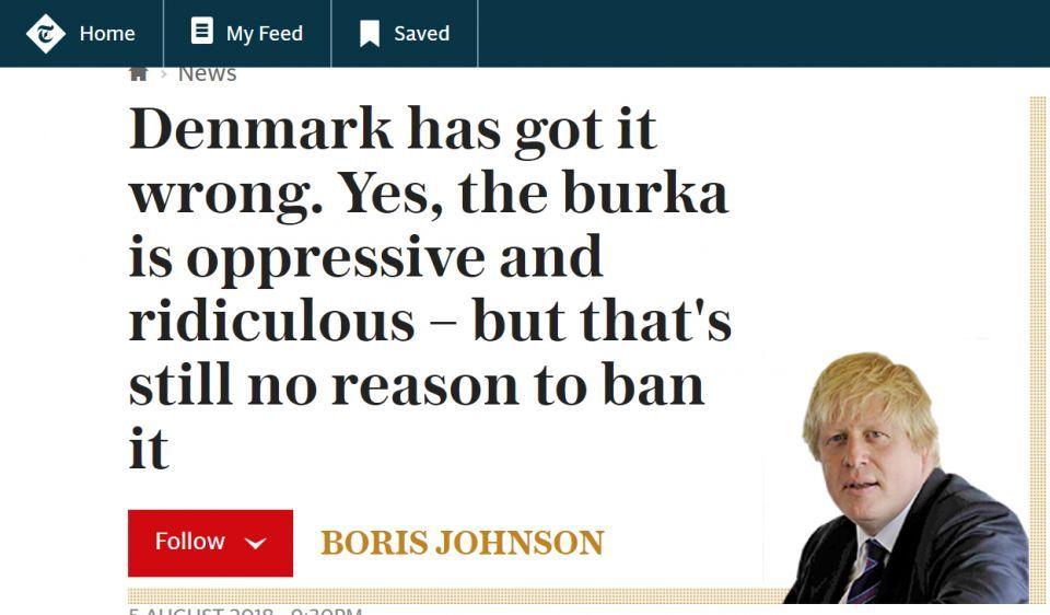 بوريس جونسون يدافع عن وصف المسلمات  المنقبات بصناديق البريد و لصوص البنوك