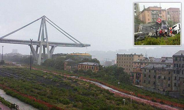 انهيار جسر للسيارات في جنوة بإيطاليا ومخاوف من مقتل العشرات