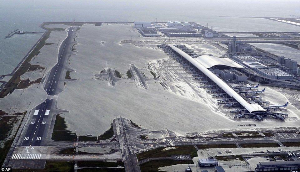 بالصور : قتلى وجرحى بأقوى إعصار يضرب اليابان منذ ربع قرن