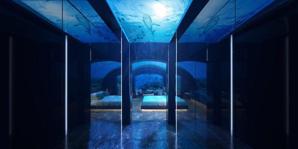 بالصور : ليلة تحت الماء في هذه الفيلا بجزر المالديف مقابل 50 ألف دولار