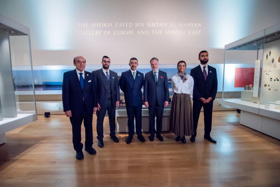 بالصور.. عبدالله بن زايد يدشن قاعة الشيخ زايد في المتحف البريطاني