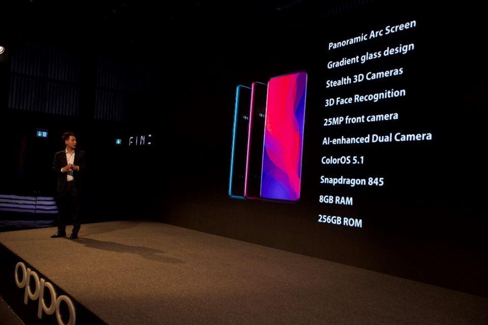 الهاتف OPPO Find X يطل للمرة الأولى في الإمارات