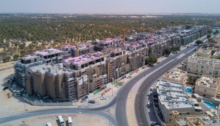دبي للاستثمار تنجز 50% من أعمال البناء في مشروع تلال مردف