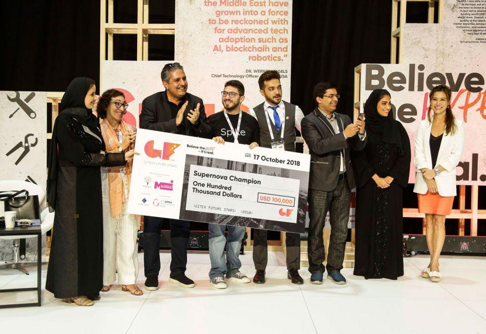 سبايك، شركة ناشئة من لبنان تفوز بمسابقة سوبر نوفا في جيتكس فيوتشر ستارز 2018