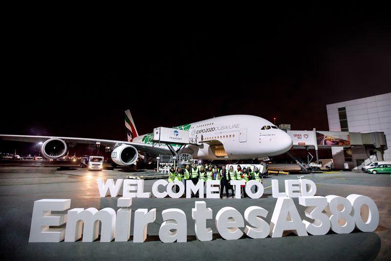 طيران الإمارات تشغل طائرة الإيرباص A380 الى سان بطرسبورغ