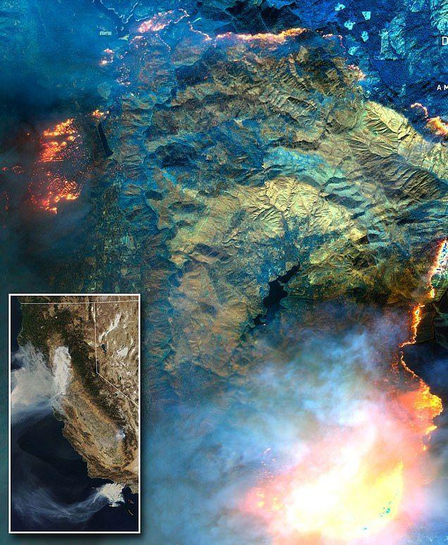 شاهد بالصور حرائق كاليفورنيا التي أودت بحياة العشرات