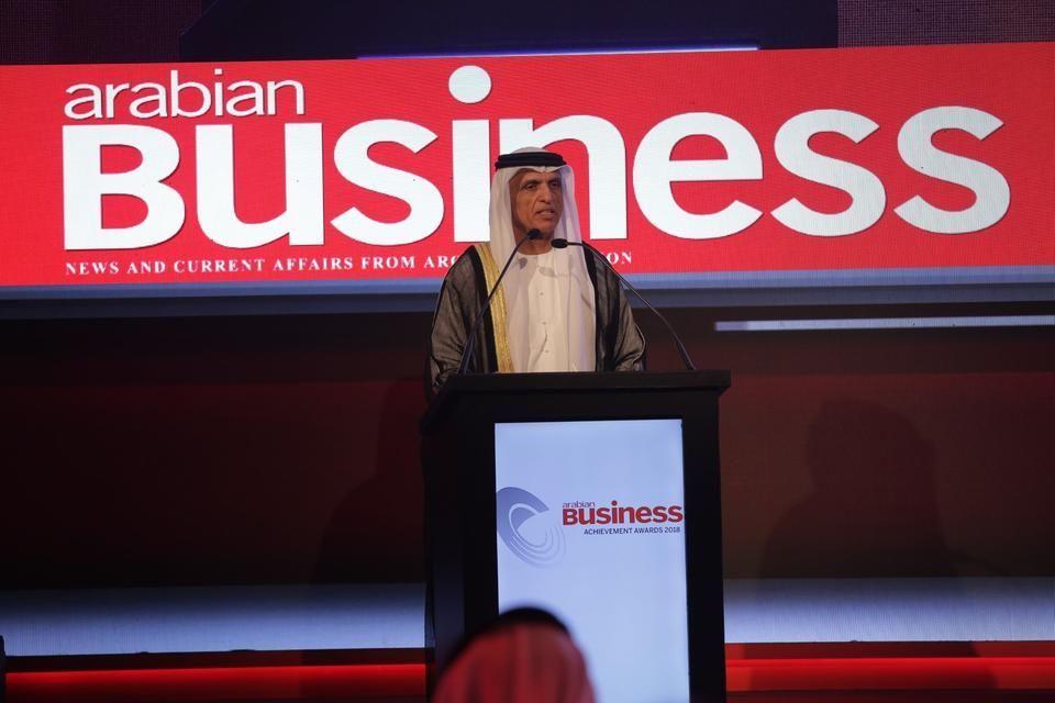 تكريم حاكم رأس الخيمة في حفل جوائز أريبيان بزنس للإنجازات