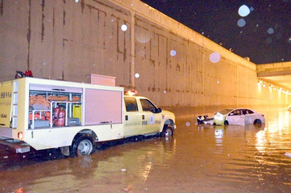 وفاة 56 ومكة تتصدر الوفيات جراء السيول والصعق الكهربائي