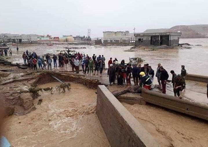 بالفيديو.. مقتل 9 ونزوح آلاف آخرين عن ديارهم في سيول بالعراق