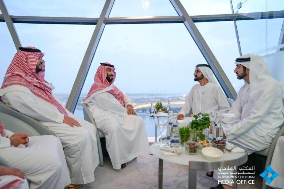 محمد بن راشد يستقبل محمد بن سلمان