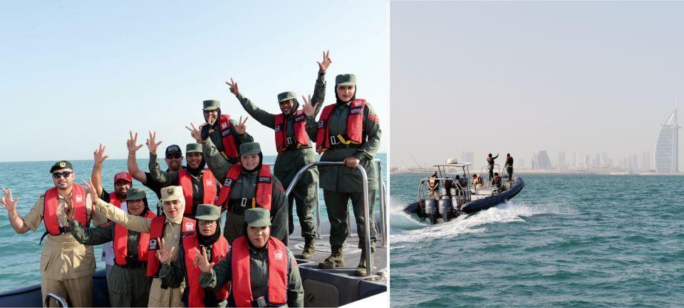 شرطة دبي تطلق أول فريق نسائي لقيادة الزوارق