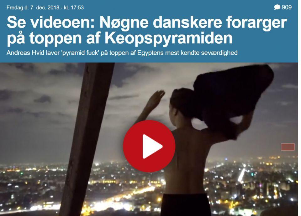 المصور الدنماركي بفيديو الهرم المسيء ينفي الاتهامات