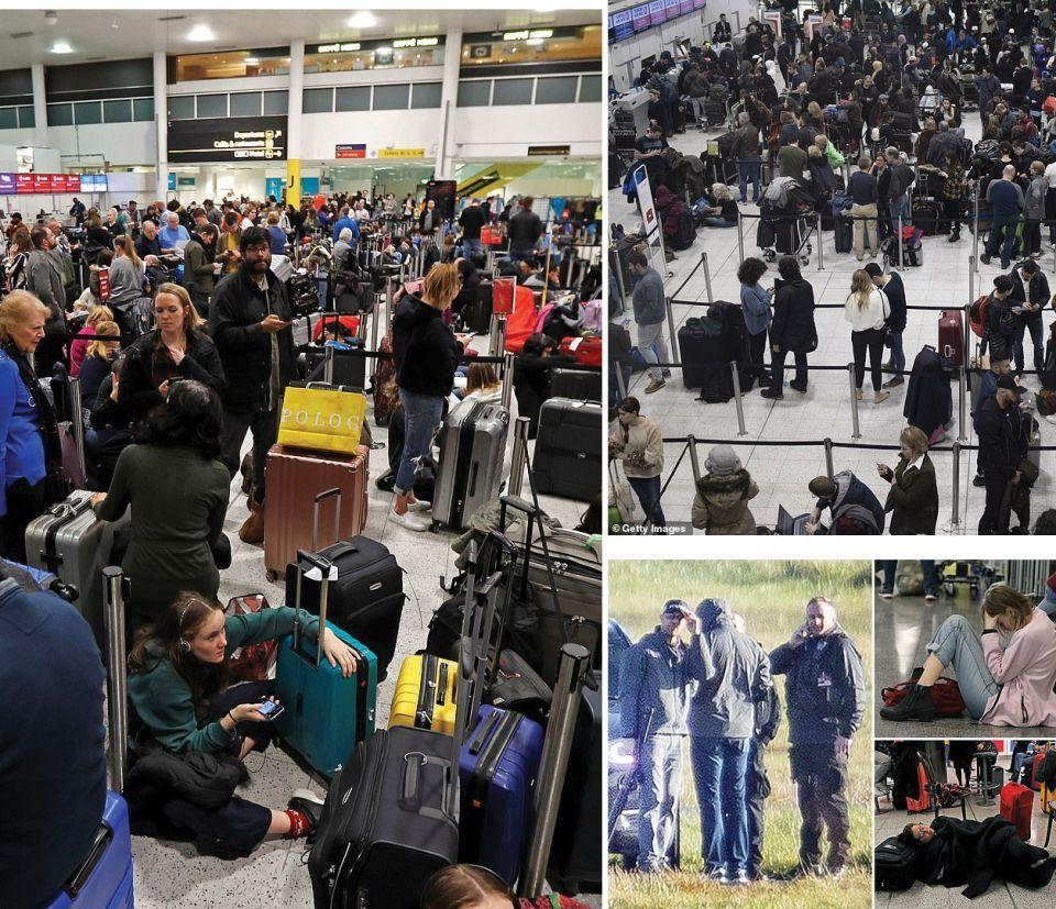 استدعاء القناصة في بريطانيا بعد تعمد شخص تخريب حركة الطيران بطائرة مسيرة
