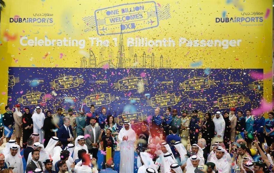 مطار دبي الدولي يحتفل باستقبال الزائر رقم مليار