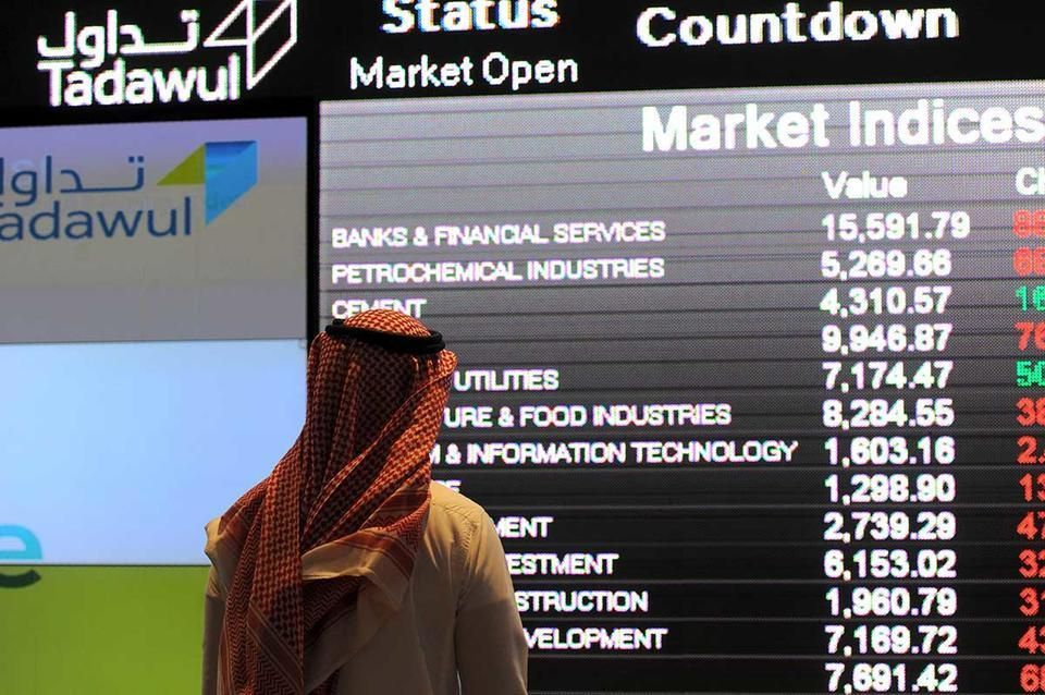 خسائر أمريكا تضغط على بورصات الخليج ومدفوعات الزكاة تهبط بأسهم بنوك سعودية