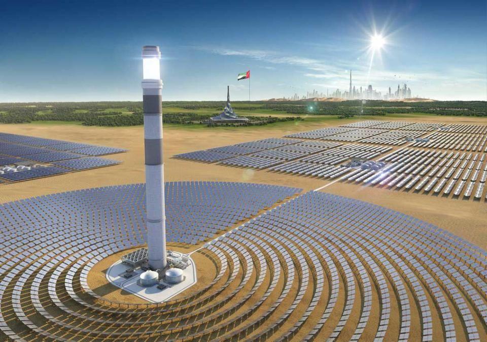 تقدُّم العمل في المرحلة الرابعة من مجمع محمد بن راشد للطاقة الشمسية بدبي