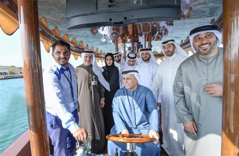 شاهد: الطاير يدشن التشغيل التجريبي لأول عبرة هجينة في دبي